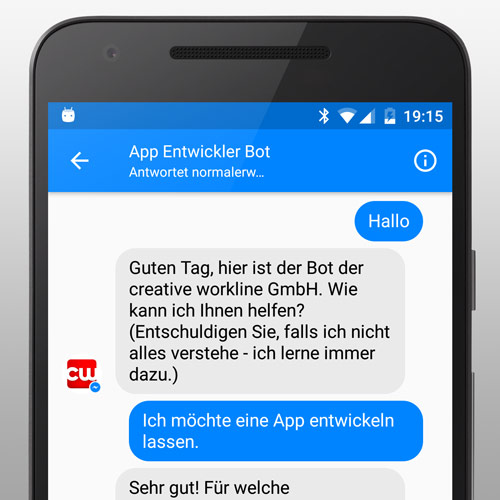Bot Entwicklung in Wien, Österreich, Chatbot für Facebook Messenger