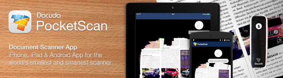 PocketScan Android und iOS App - Bluetooth Scanner