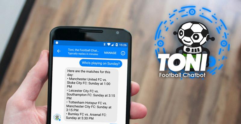 Fußball Messenger Chatbot Toni
