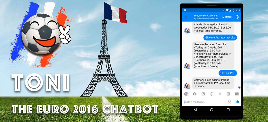Toni Euro 2016 Chatbot Messenger