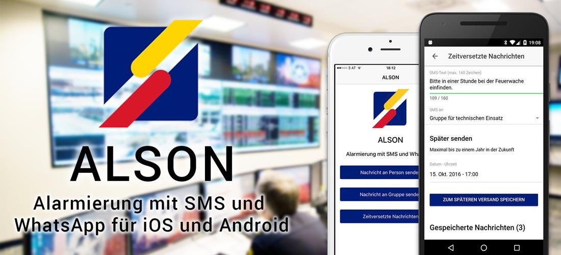 ALSON iOS und Android App - Alarmierung